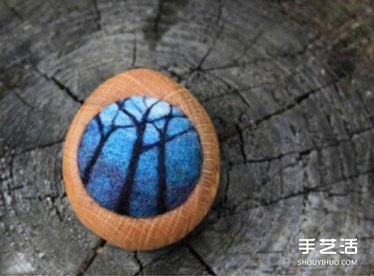 迷你羊毛毡风景画图片 仿佛内藏另一个世界 -  www.shouyihuo.com