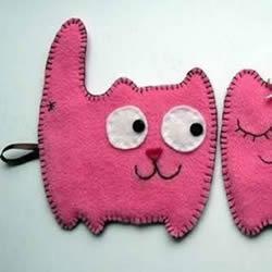 不织布猫咪挂件制作 简单布艺猫咪挂饰DIY图纸