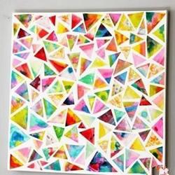 剪纸拼贴装饰画小制作 小朋友也可以轻松完成
