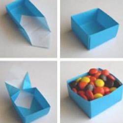 一张纸折纸盒的方法图解 收纳纸盒的折法