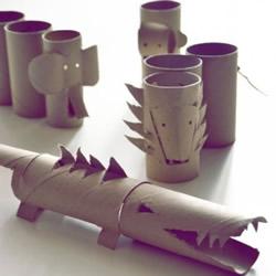 幼儿卷纸筒小制作图片 不仅是玩还可以很实用