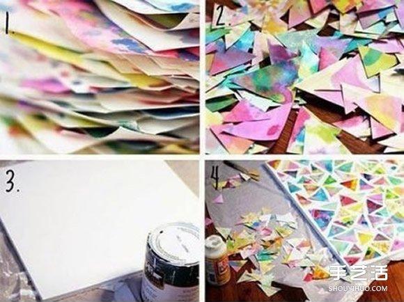 剪纸拼贴装饰画小制作 小朋友也可以轻松完成- www.shouyihuo.net