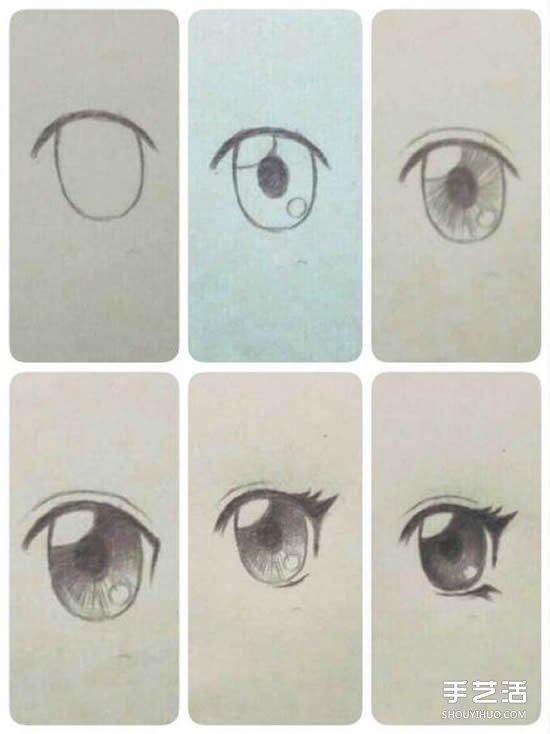 眼睛速写画法步骤