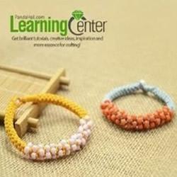 可爱串珠手链的编法图解 装饰串珠的手链编织