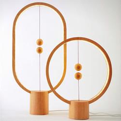 Heng 木球磁吸桌灯 重新思考电灯开关的型