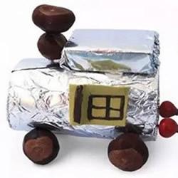 卷纸筒小汽车玩具制作 简单幼儿汽车玩具做法