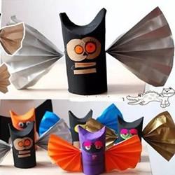 卷纸筒蝙蝠模型制作教程 儿童蝙蝠模型的做法
