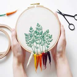 精美刺绣作品:巧手让针线活跳出刺绣圈架