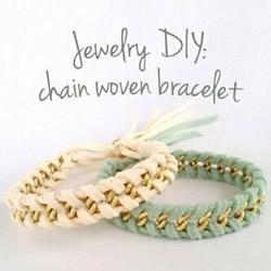 简约时尚的皮革金属链混搭风手链的编法图解