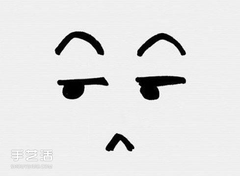 卡通風格表情簡筆畫 簡筆畫搞怪表情的畫法