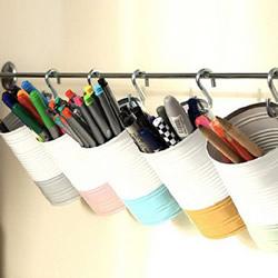 铁罐废物利用改造 DIY超赞的花瓶收纳罐笔筒