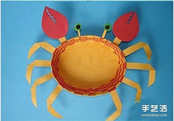儿童螃蟹手工制作图片 简单可爱小螃蟹制作教程- www.shouyihuo.net