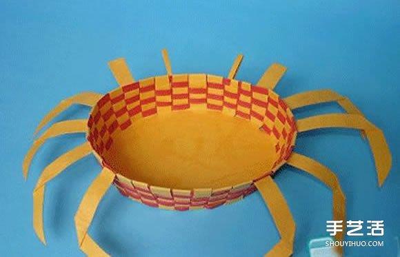 儿童螃蟹手工制作图片