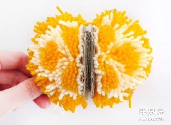 毛线球水果的做法图解