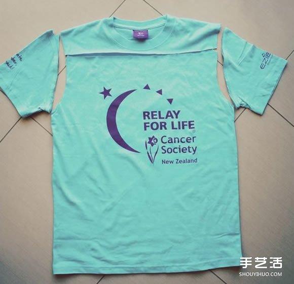 旧T恤改造吊带背心教程 简单吊带背心的做法 -  www.shouyihuo.com
