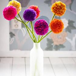 漂亮手工毛线花球制作 毛线花球的做法步