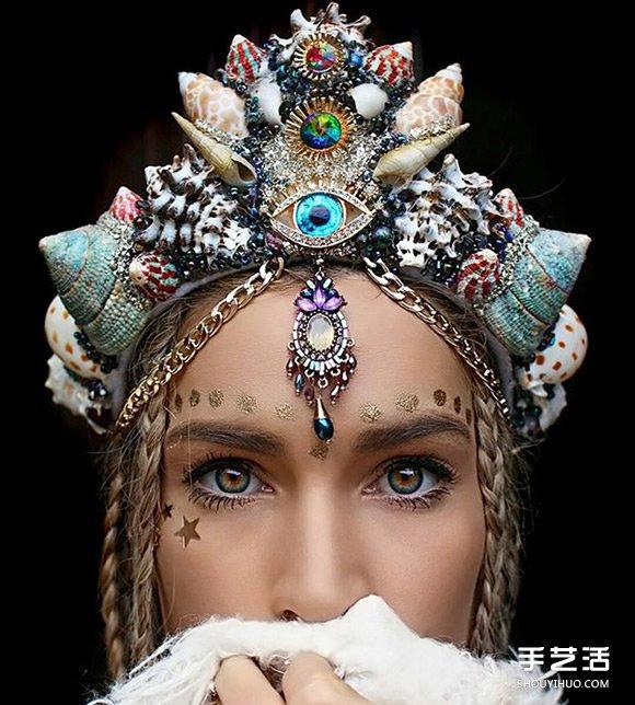 27岁澳洲花匠:利用贝壳和珠宝制作美人鱼皇冠 -  www.shouyihuo.com