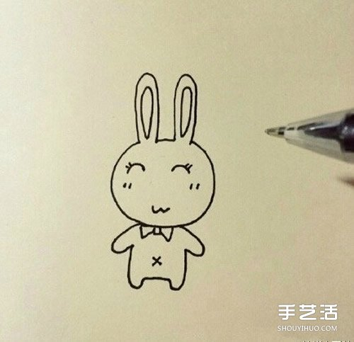 卡通小兔子簡筆畫教學 簡單又可愛小兔子畫法