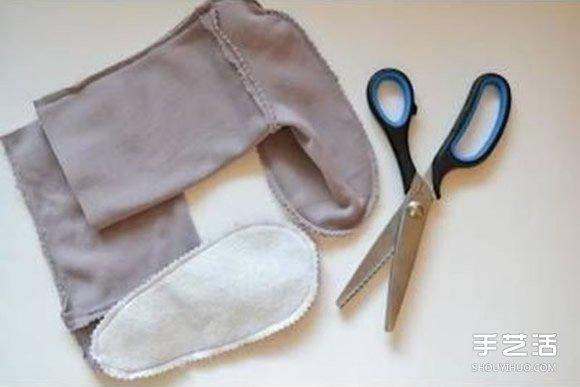 手工布艺宝宝靴子图纸 婴儿靴子的做法教程 -  www.shouyihuo.com