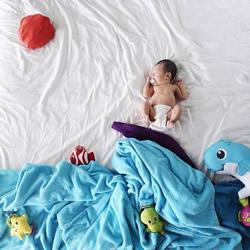 宝宝可爱创意照片DIY 开始人生的第一次大冒险