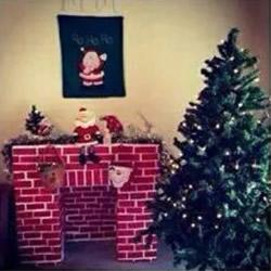 装饰壁炉的做法图解 鞋盒制作圣诞节壁炉