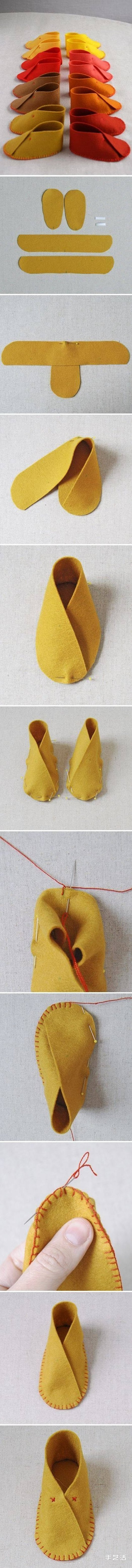 九种婴儿鞋的做法图解 婴儿鞋制作方法过程 -  www.shouyihuo.com