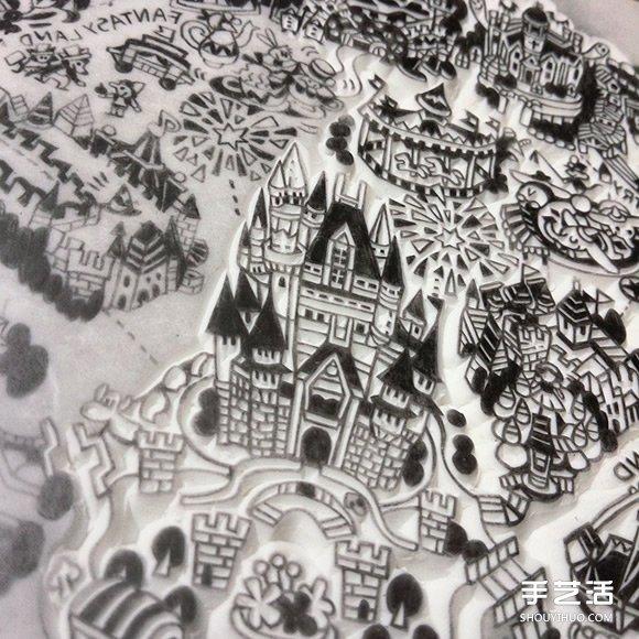 将东京迪士尼整个园区直接缩小成细致橡皮章 -  www.shouyihuo.com