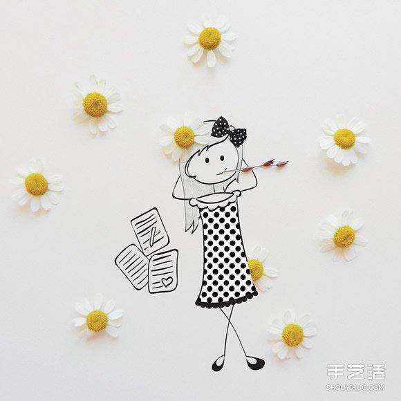 创意画作品欣赏:讲述可爱女生的日常生活