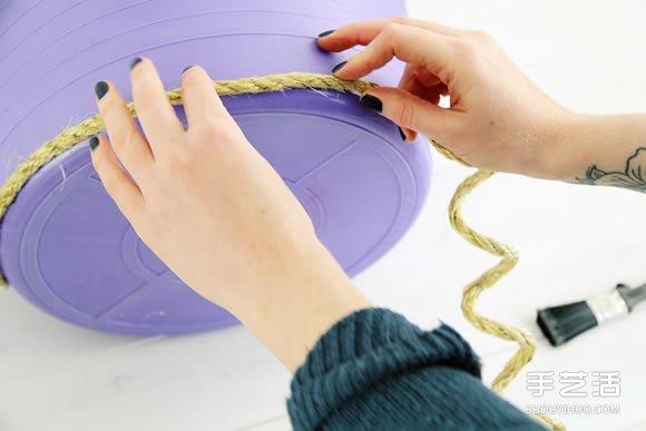 塑料桶手工制作花盆罩