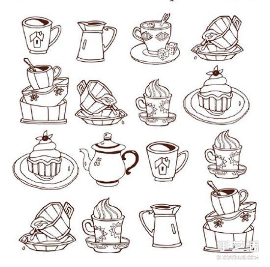 簡單容易學的簡筆畫圖片 各種可愛圖案都有!