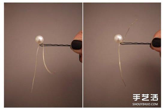 自制珍珠发卡的方法教程 简单DIY珍珠发卡图解 -  www.shouyihuo.com