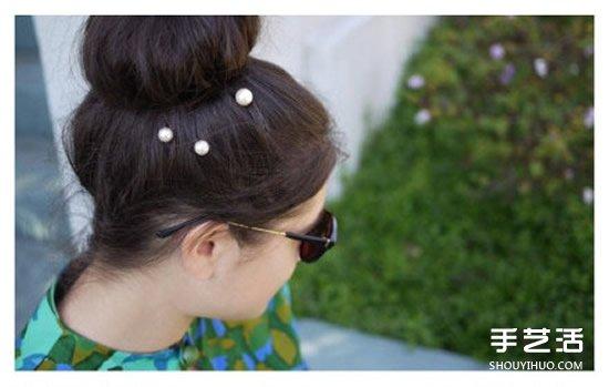 自制珍珠发卡的方法教程 简单DIY珍珠发卡图解 ()