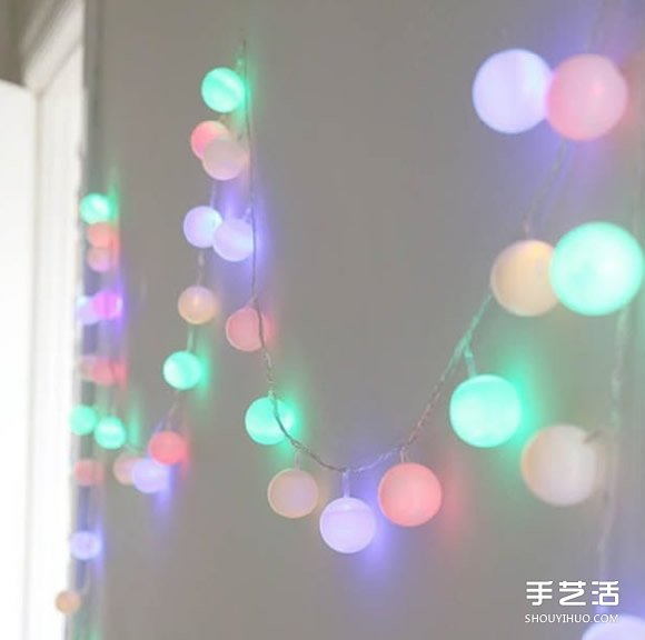 浪漫小夜灯制作过程 乒乓球手工制作灯饰图片
