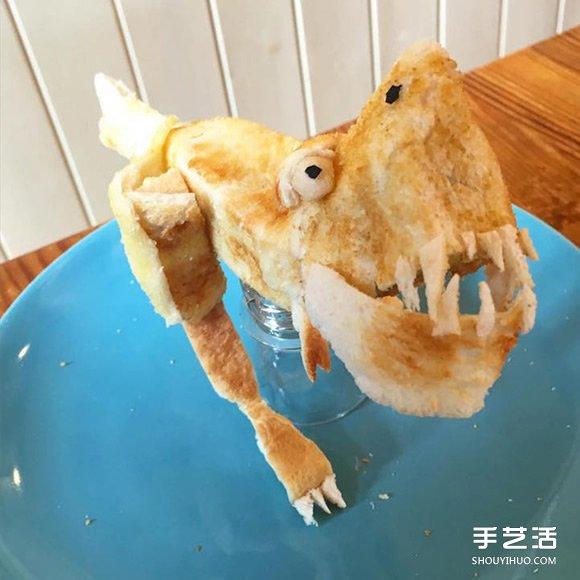 爱心老爸的面包雕刻作品 让过敏女儿吃得开心 -  www.shouyihuo.com
