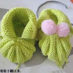 婴儿鞋的毛线编织方法 婴儿毛线鞋织法图解