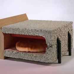 钢筋水泥DIY的烤面包机 平时还能当椅子做!
