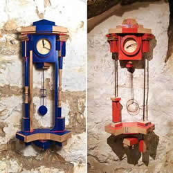 玩乐高积木一样的趣味 积木挂钟DIY作品图片