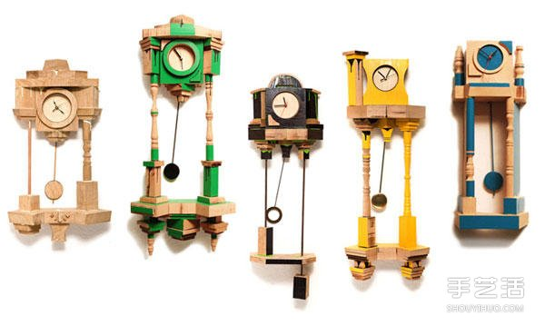 玩乐高积木一样的趣味 积木挂钟DIY作品图片 ()
