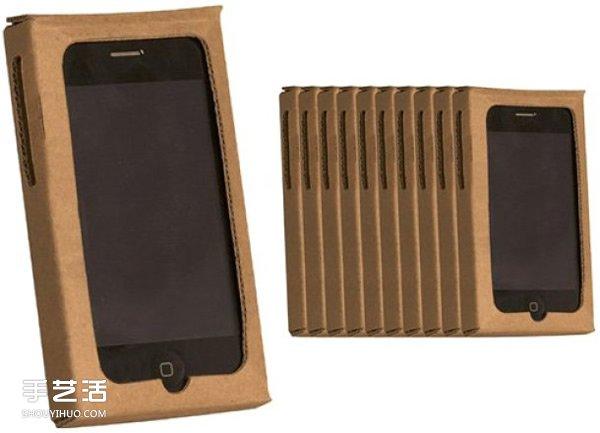 利用硬纸板自制个性手机壳的展开图纸 ()