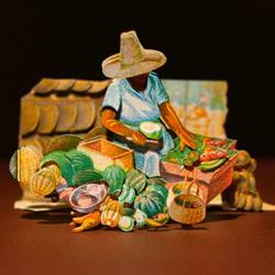 纸币剪纸艺术作品欣赏 精美手工剪纸邮票图片