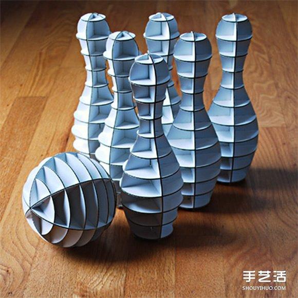 手工瓦楞纸保龄球图片 自制环保保龄球的作品 - www.shouyihuo.com