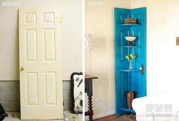 旧门板改造转角柜的方法 转角柜手工制作方法  -  www.shouyihuo.com