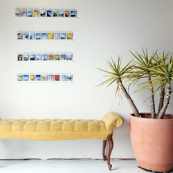 利用塑料条手工制作照片墙 塑胶条相片架DIY