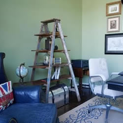 旧梯子改造利用DIY 手工制作层板托架收纳架