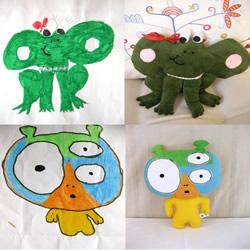 儿童涂鸦变身创意布艺玩具 永久珍藏的布娃娃