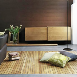 木头地板不用花时间施工 木地毯一秒就做好!