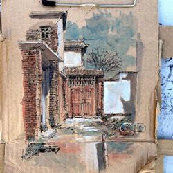 垃圾→艺术 勾勒家乡味道的废纸箱手绘创作