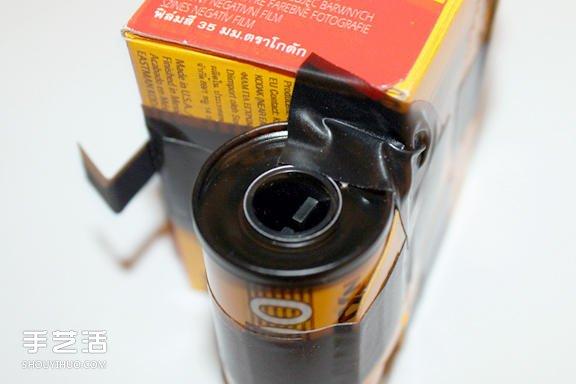 自制胶卷相机的方法 手工diy胶卷盒针孔相机(2)
