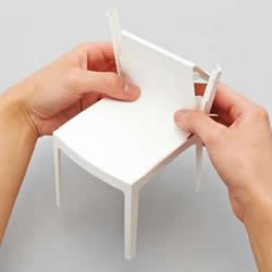 手工折纸椅子图片 分别有单人椅、扶手椅和沙发