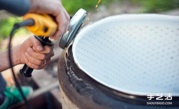 洗衣机内槽废物利用 diy改装粗犷工业风火炉